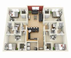 50 four 4 bedroom apartment house plans architecture design 4
