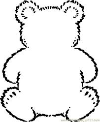 free printable coloring teddybear mammals gt bear bears