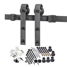 Exterior Sliding Barn Door Kit Shop Sliding Barn Door Hardware At Lowes