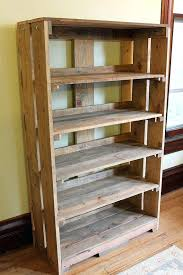 Pallet Bookcase Bookcase Real Wood Bookcases Furniture The Best Diy Wood Pallet