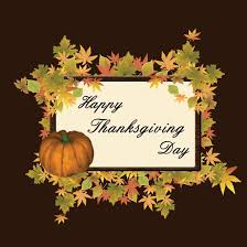 free vector illustration of happy thanksgiving day frame with