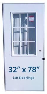 32x78 Exterior Door Mobile Home Cottage Door 32x78 Lh Left Hinge Doors With Window