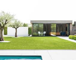 our modern pool houses offer a practical addition to your swimming