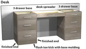 3 Drawer Base Cabinet Standard Kitchen Base Cabinets