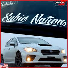 subaru forester decals subaru sticker subie nation decal vinyl windshield banner