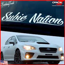 jdm subaru stickers subaru sticker subie nation decal vinyl windshield banner