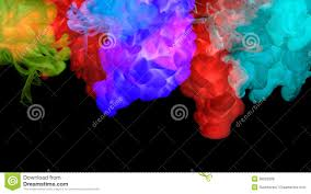 acrylic colors in water abstract background stock photo image