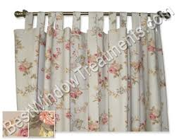 Tab Top Valance Fireside Floral Tab Top Curtains