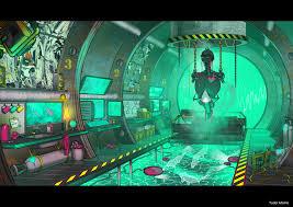 artstation cyberpunk room tudor morris