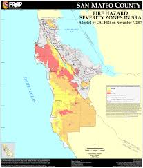 California Zip Code Map by Cal Fire San Mateo County Fhsz Map