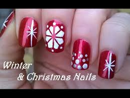 christmas nail art winter design in red u0026 white diy sweater