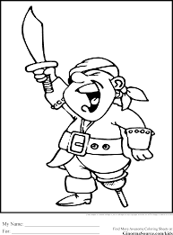 pirate coloring pages pegleg ginormasource kids
