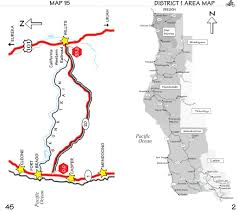 Fort Bragg Map Pacific Coast Bike Route In Sections Maplets