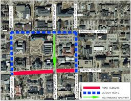 Uiuc Campus Map Mcore Update Work To Close Green Street In Front Of Illini Union
