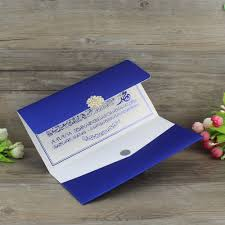 Wedding Invitation Cards China Online Buy Wholesale Blue Pocket Wedding Invitations From China