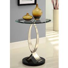 Powell Black Glass Top Side Small Entry Table Interesting Ideas For Home