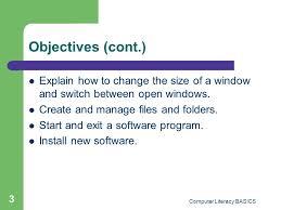 computing fundamentals module lesson 5 u2014 essential computer skills