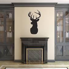 v c designs ltd tm deer head stag head decorative wall sticker stag head vinyl wall sticker black matt removable