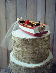 boat cake topper picture of canoe paddle boat wedding cake topper