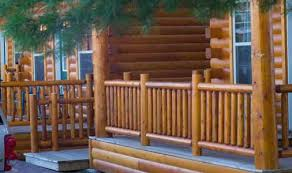 Outdoor Banister Deck Railing Rustic Rails At Logsiding Com