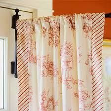 Valances For French Doors - a swinging arm curtain rod provides a clever solution to draping a