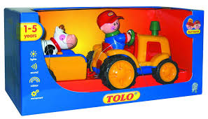 tolo first friends tractor trailer u0026 cow amazon co uk toys u0026 games