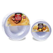clear plastic plates daily chef clear plastic plate bundle 150 ct sam s club