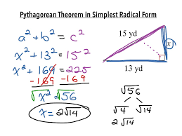 Radicals Worksheet Pythagorean Theorem In Simplest Radical Form Math Algebra