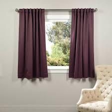 semi opaque aubergine purple blackout curtain 50 in w x 63