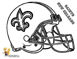 Pro Football Helmet Coloring Page Nflr Footba L Free Coloring Saints Colouring Pages