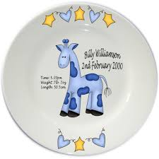 birth plates personalised baby birth porcelain plate flair original