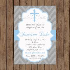boys baptism invitation christening invitation baby