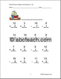 subtraction worksheets mixed addition and subtraction worksheets