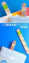 these easy diy bookmarks stay in place ice lolly stick crafts