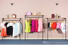 2018 wall clothing display retro iron pipe coat rack clothing