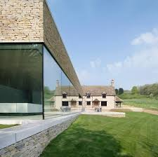 found associates private house cotswolds uk glass open plan