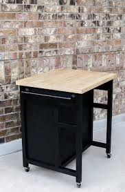 furniture black wood kitchen island on wheels with white