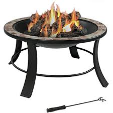 slate fire pit table amazon com sunnydaze 30 inch natural slate fire pit table with