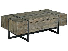 modern timber coffee tables hammary modern timber rectangular cocktail table with soft close