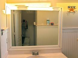 how to frame a bathroom mirror at home and interior design ideas