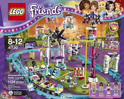 amazon com lego friends 41130 amusement park roller coaster