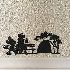 disney inspired mouse hole mickey and minnie vinyl wall home decal