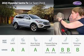 hyundai santa fe 3 child seats 2015 hyundai santa fe car seat check cars com