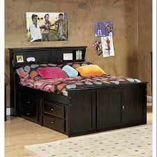 Walmart Bed Frame With Storage Bed With Bookcase Headboard And Storage Walmart