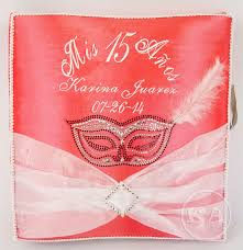 quinceanera photo albums heidicollection quinceanera photo album masquerade mask