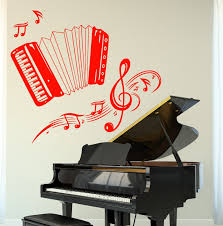 popular vinyl wall music buy cheap vinyl wall music lots from hwhd new kids room music wall vinyl music accordion set of notes guaranteed quality decal free