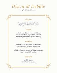 simple white and gold wedding menu templates by canva