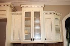 Decorative Corner Post Designed Using Kitchen Cabinets Updating - Kitchen cabinet crown molding ideas