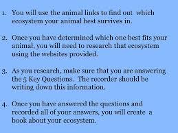 ecosystem webquest 4th grade mrs jones ppt download