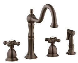kitchen faucet 4 foret n12002 4 kitchen faucet with metal cross handles